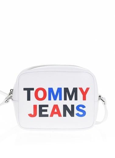 Tommy Hilfiger Messenger / Askılı Çanta Beyaz
